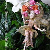 Куклы и игрушки ручной работы. Ярмарка Мастеров - ручная работа Маленький французский цветок подвижная кукла.. Handmade.