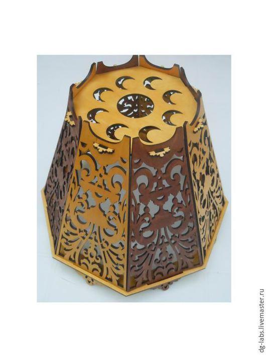 Освещение ручной работы. Ярмарка Мастеров - ручная работа. Купить Абажур для потолочной лампы. Handmade. Подарок, резной абажжур