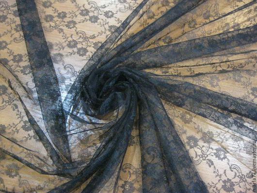 Шитье ручной работы. Ярмарка Мастеров - ручная работа. Купить Кружевное полотно.. Handmade. Черный, кружевное полотно, черное кружево