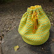 Сумки и аксессуары handmade. Livemaster - original item Knitted bag lined