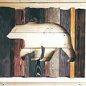 Картины и панно manualidades. Livemaster - hecho a mano Bear boards panels picture. Handmade.