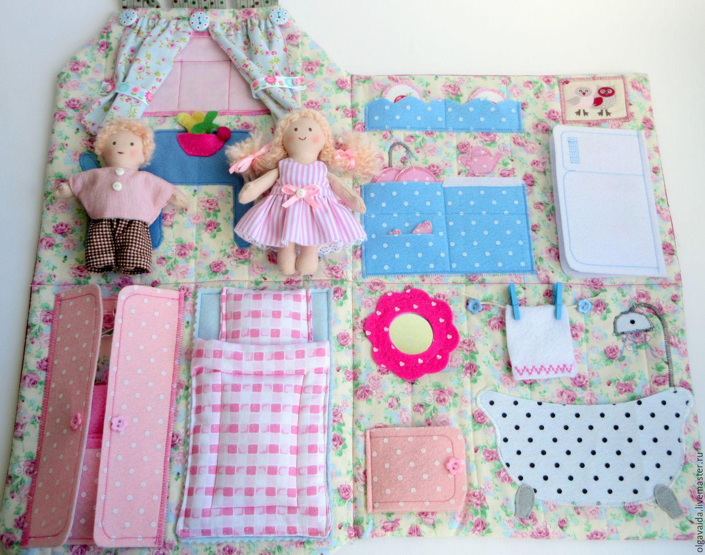 Фолк кукольный домик сумка из ткани оформления