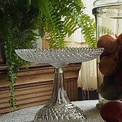 Винтаж handmade. Livemaster - original item Candy bowl Dyatkovskaya Maltsov factory. Handmade.
