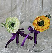 """Свадебный салон ручной работы. Ярмарка Мастеров - ручная работа Бокалы """"Весенний каприз"""". Handmade."""