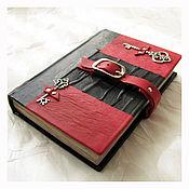 Diaries handmade. Livemaster - original item Diary leather Alice in Wonderland with illustrations. Handmade.