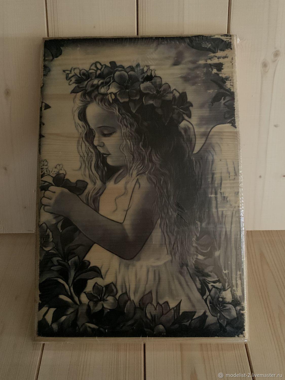 Картина на дереве: Девочка, Фотокартины, Москва,  Фото №1