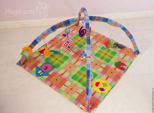 """Развивающие игрушки ручной работы. Ярмарка Мастеров - ручная работа. Купить Развивающий коврик """"Геометрия"""". Handmade. Разноцветный, развивающие игры"""