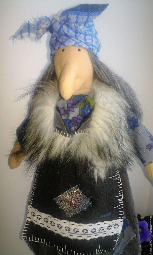 Сказочные персонажи ручной работы. Ярмарка Мастеров - ручная работа. Купить Кукла Баба-Яга 2. Handmade. Синий, кукла