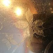Для дома и интерьера ручной работы. Ярмарка Мастеров - ручная работа Состаренное зеркало выполненное из потали в ручную с орнаментом. Handmade.