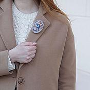 Украшения handmade. Livemaster - original item Autumn walk. Brooch textile with embroidery. Handmade.