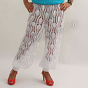 Одежда ручной работы. Ярмарка Мастеров - ручная работа Кружевные брюки. Handmade.