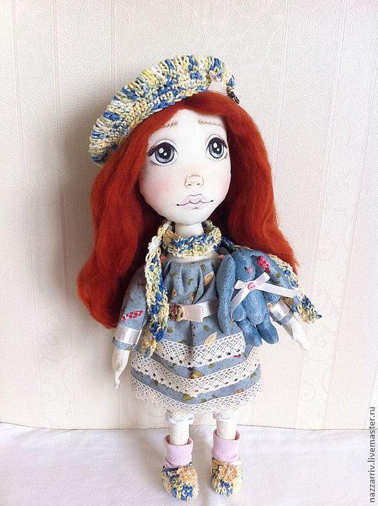 Коллекционные куклы ручной работы. Ярмарка Мастеров - ручная работа. Купить Ника. Handmade. Голубой, подарок на день рождения