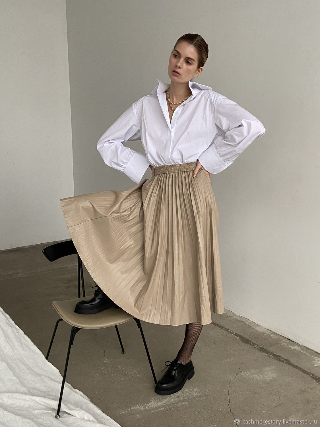 Pastelle Vegan Leather Ruffle Skirt, Skirts, Moscow,  Фото №1
