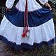 """Одежда ручной работы. Платье """"Сине-белое"""". СЛАВный стиль от Заряны. Ярмарка Мастеров. Платье в пол, народное платье"""