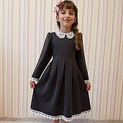 Работы для детей, ручной работы. Ярмарка Мастеров - ручная работа Платье школьное. Handmade.