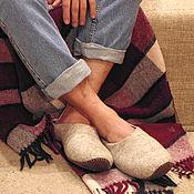 Обувь ручной работы handmade. Livemaster - original item Mens Slippers leather sole. Handmade.