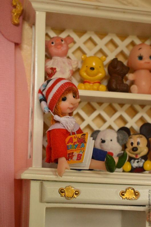 Коллекционные куклы ручной работы. Ярмарка Мастеров - ручная работа. Купить Кукла миниатюрная  Буратино. Handmade. Авторская кукла, текстиль