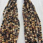 """Украшения handmade. Livemaster - original item Wooden multistrand necklace """"Beadsfall"""". Handmade."""