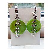 Украшения handmade. Livemaster - original item Pearl and garnet earrings. Handmade.