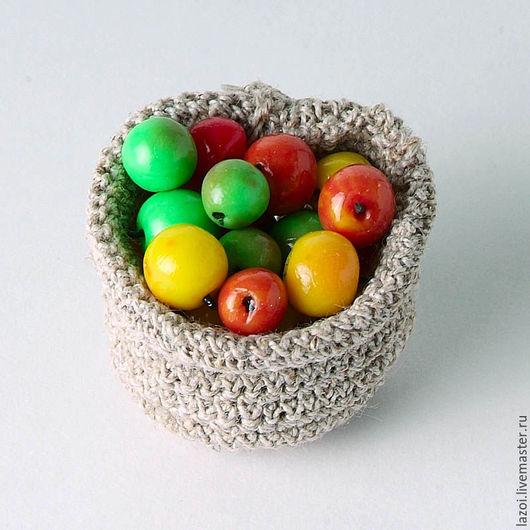 Еда ручной работы. Ярмарка Мастеров - ручная работа. Купить Яблоки. Handmade. Комбинированный, кукла, игрушка, овощи, фрукты, яблоко