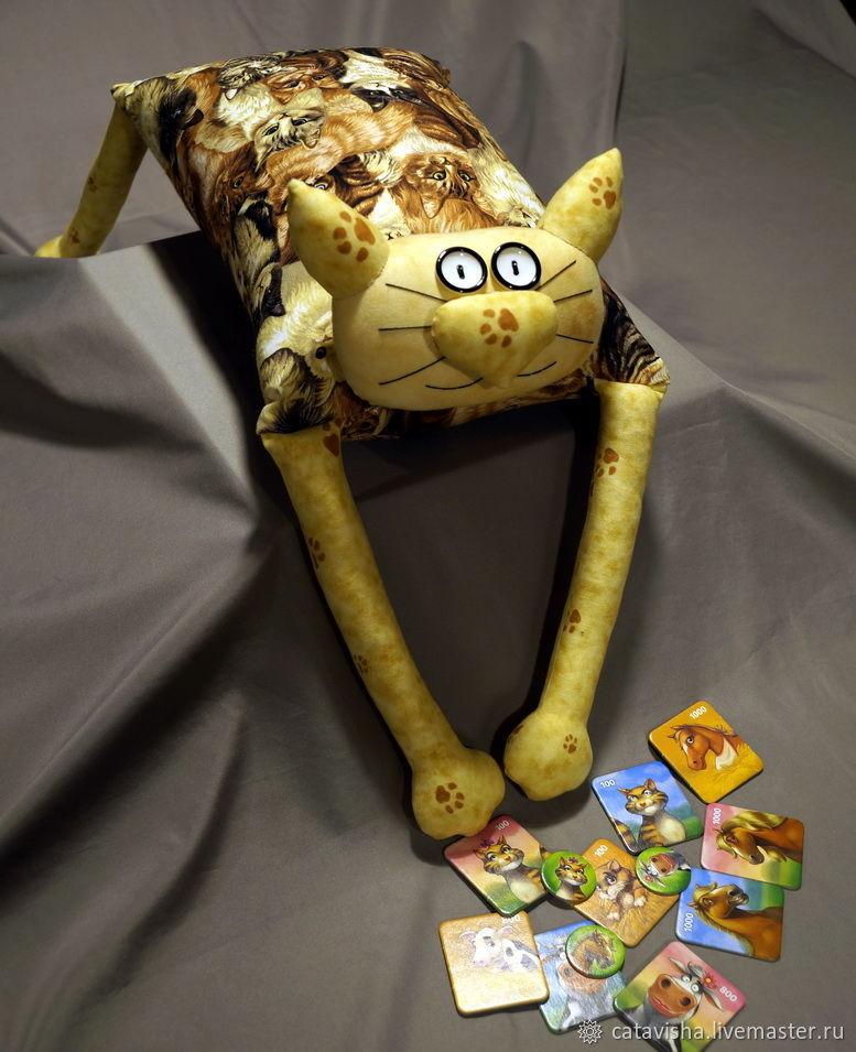 """Игрушка-подушка """"Радужный кот"""" Кошки беж, Мягкие игрушки, Королев,  Фото №1"""