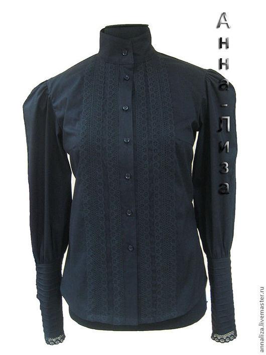 Блузки ручной работы. Ярмарка Мастеров - ручная работа. Купить Блузка из хлопка в Викторианском стиле. Handmade. Черный, блузка с кружевом