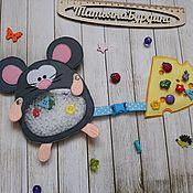Искалки ручной работы. Ярмарка Мастеров - ручная работа Мышка-искалочка. Handmade.