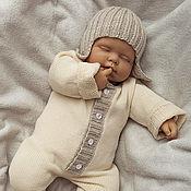 Работы для детей, ручной работы. Ярмарка Мастеров - ручная работа Комбинезон для новорожденных ЛАПУШКА. Handmade.