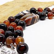 Украшения handmade. Livemaster - original item Tiramisu multi-row bead bracelet. Handmade.