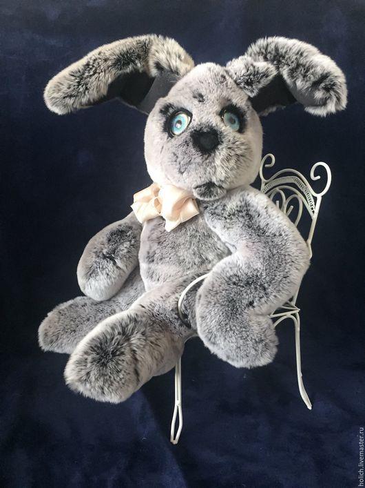 Куклы и игрушки ручной работы. Ярмарка Мастеров - ручная работа. Купить Зайка игрушка из натурального меха в стиле тедди. Handmade.