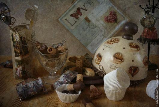 Кухня ручной работы. Ярмарка Мастеров - ручная работа. Купить Хлебница- блинница  Захотелось шоколада. Декупаж. Handmade. Хлебница