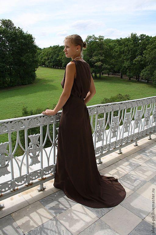 Платья ручной работы. Ярмарка Мастеров - ручная работа. Купить Вечернее платье. Handmade. Вечернее платье, натуральный шёлк