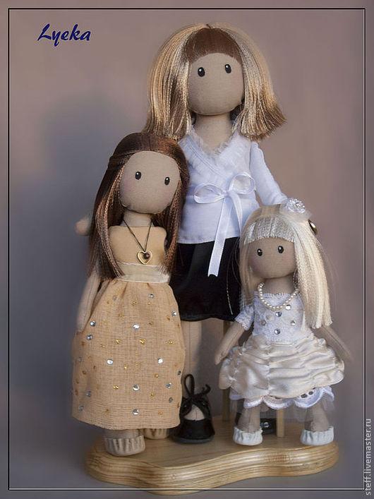 Портретные куклы ручной работы. Ярмарка Мастеров - ручная работа. Купить Мамино счастье - 2. Handmade. Интерьерная кукла, бежевый