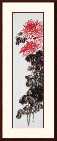 Картины цветов ручной работы. Ярмарка Мастеров - ручная работа. Купить Хризантемы. Handmade. Канва, вискоза, металл, основа