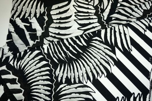 Шитье ручной работы. Ярмарка Мастеров - ручная работа. Купить Трикотаж черно-белый JUST CAVALLI PRT 2041626 Италия. Handmade.