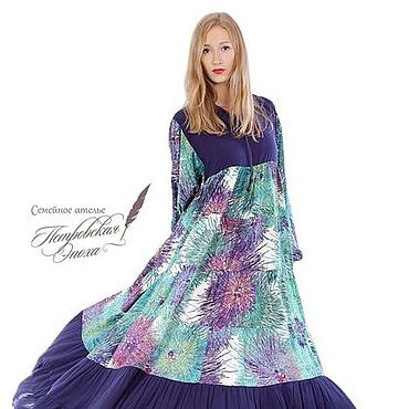 """Одежда ручной работы. Ярмарка Мастеров - ручная работа Платье из штапеля,,Салина"""" С1. Handmade."""