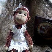 Куклы и игрушки ручной работы. Ярмарка Мастеров - ручная работа Обезьянка тедди. Handmade.