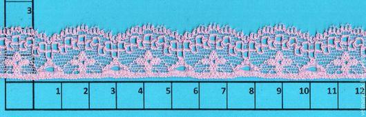 Аппликации, вставки, отделка ручной работы. Ярмарка Мастеров - ручная работа. Купить Кружево эластичное A6657 розовый. Handmade. Разноцветный