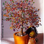"""Фен-шуй и эзотерика ручной работы. Ярмарка Мастеров - ручная работа Дерево из камней(бисера) """"Разноцветный фейерверк"""". Handmade."""