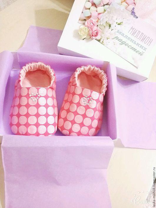 Детская обувь ручной работы. Ярмарка Мастеров - ручная работа. Купить Моксы для принцесс. Handmade. Моксы, хлопок