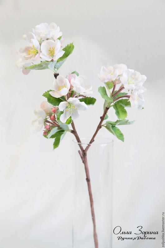 Цветы ручной работы. Ярмарка Мастеров - ручная работа. Купить Веточка цветущей яблоньки.. Handmade. Белый, оригинальный подарок