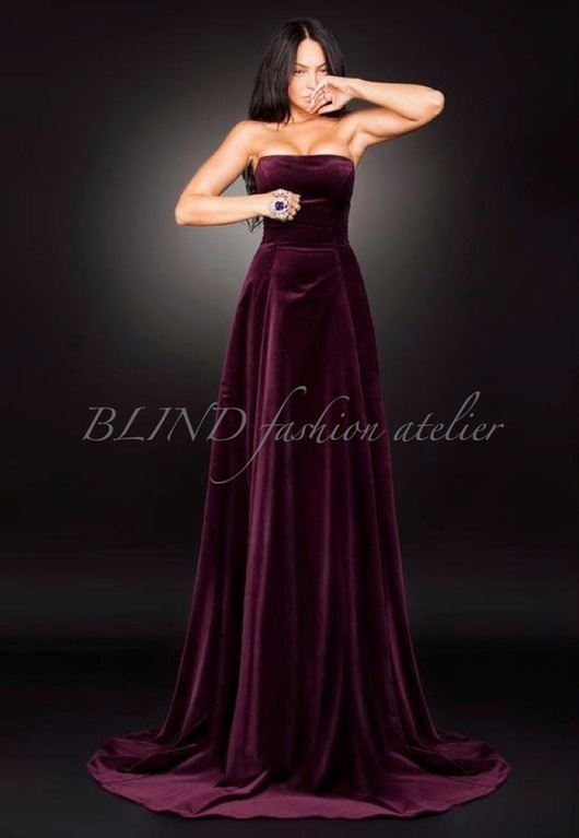 Платья ручной работы. Ярмарка Мастеров - ручная работа. Купить Платье из бархата 00003. Handmade. Бордовый, платье