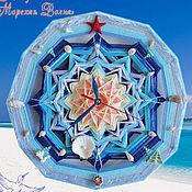 Для дома и интерьера ручной работы. Ярмарка Мастеров - ручная работа Часы настенные в детскую море мандала Морская Волна звезда голубой. Handmade.