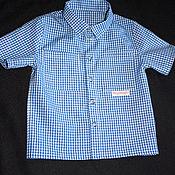 Работы для детей, ручной работы. Ярмарка Мастеров - ручная работа Рубашка с коротким рукавом на малыша. Handmade.