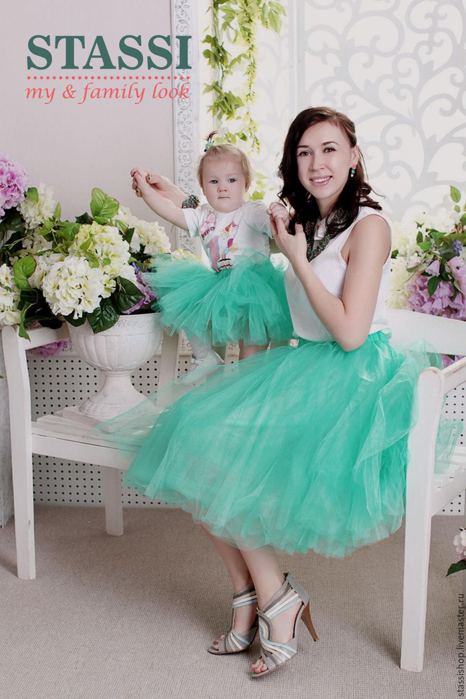 Фотосессия с дочкой в юбках