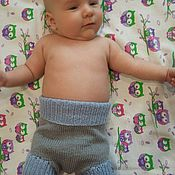 Работы для детей, ручной работы. Ярмарка Мастеров - ручная работа Пеленальные непромокаемые штанишки 100% меринос. Handmade.