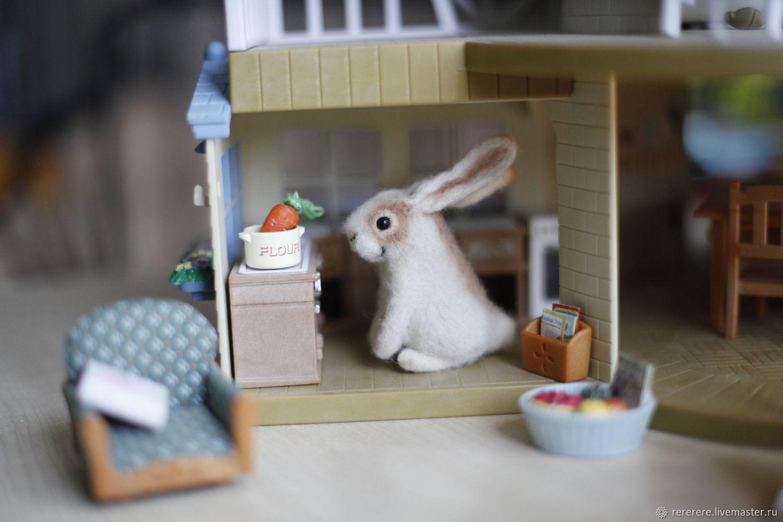 Felted Bunny felt toy, Felted Toy, Krasnoyarsk,  Фото №1