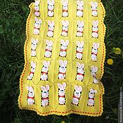 """Для дома и интерьера ручной работы. Ярмарка Мастеров - ручная работа Детский вязаный плед """"Солнечный зайчик"""". Handmade."""