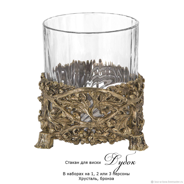 Стакан для виски Дубок (хрусталь, бронза), Бокалы, Москва,  Фото №1