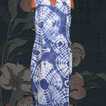 """Одежда ручной работы. Ярмарка Мастеров - ручная работа Туника """"Shibori #0074"""". Handmade."""